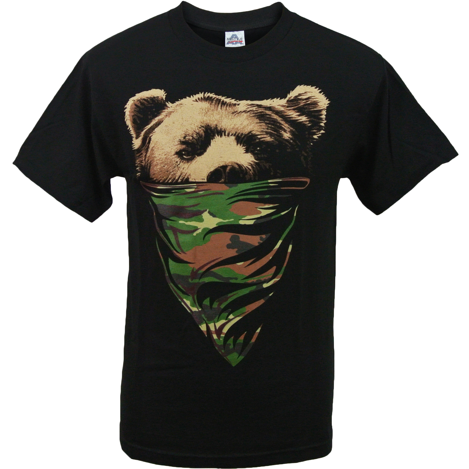 ovc california camouflage bandana bear mens t shirt ebay. Black Bedroom Furniture Sets. Home Design Ideas