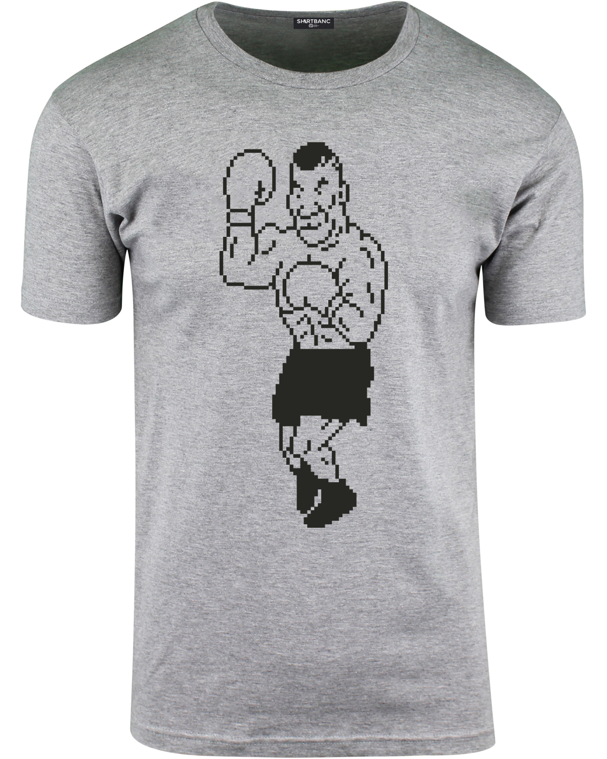mens iron mike tyson punch out parody t shirt. Black Bedroom Furniture Sets. Home Design Ideas